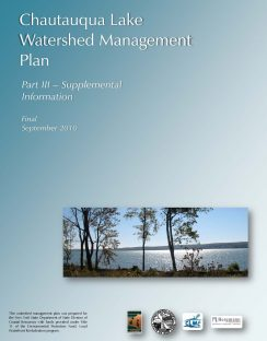 Chautauqua Lake Watershed Management Plan - Part III - September 2010