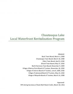 Chautauqua Lake LWRP