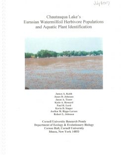Chautauqua Lake's Eurasian Watermilfoil Herbivore Populations and Aquatic Plant Identification